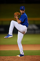AZL Cubs 1 relief pitcher Cayne Ueckert (67) during an Arizona League game against the AZL Giants Orange on July 10, 2019 at Sloan Park in Mesa, Arizona. The AZL Giants Orange defeated the AZL Cubs 1 13-8. (Zachary Lucy/Four Seam Images)