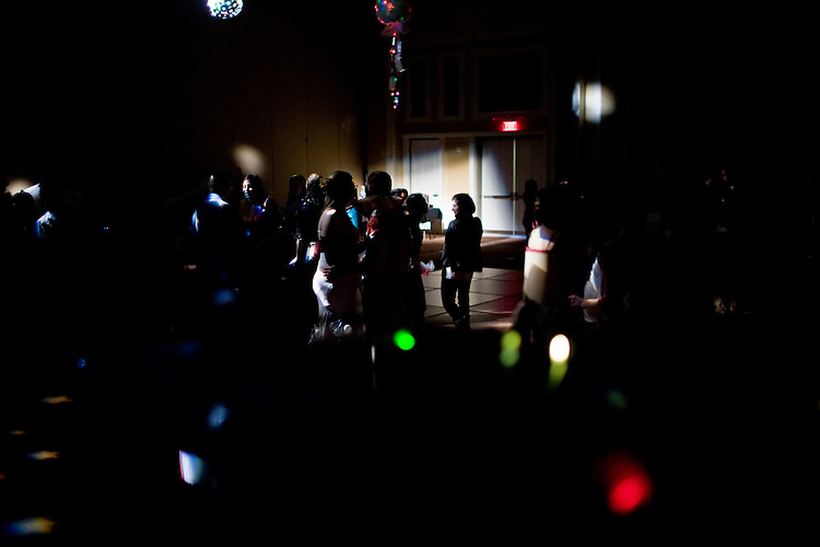 "Students dance with during  ""Dance Your Trash Off"" in the Baker Center Ballroom..photo by Kevin Riddell"