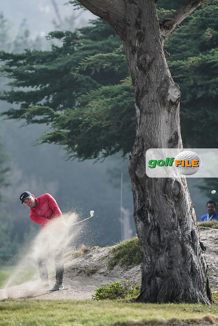 Paul Casey (ENG) in action at Monterey Peninsula GC during the second round of the AT&T Pro-Am, Pebble Beach, Monterey, California, USA. 06/02/2020<br /> Picture: Golffile | Phil Inglis<br /> <br /> <br /> All photo usage must carry mandatory copyright credit (© Golffile | Phil Inglis)