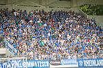 i29.07.2018, Erzgebirgsstadion, Aue, GER, Freundschaftsspiel/Testspiel/Eröffnung Erzgebirgsstadion Aue, FC Erzgebirge Aue vs. FC Schalke 04, im Bild<br /> <br /> <br /> Fans vom FC Schalke 04<br /> <br /> Foto © nordphoto / Dostmann