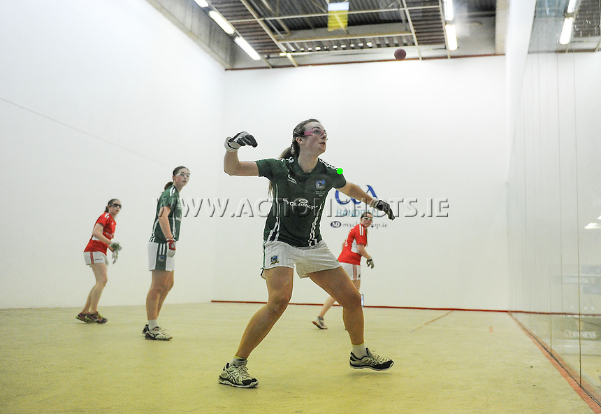 24/09/2016;Myclubshop.ie All-Ireland Handball 60x30 Championship, Ladies Doubles Final, Catriona Casey and Aishling O&rsquo;Keeffe (Cork) vs Martina McMahon and Katie McCarthy (Limerick); GAA Handball Center, Croke Park, Dublin<br /> Photo Credit: actionshots.ie/Tommy Grealy