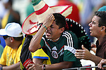 Mexico fans (MEX), JUNE 29, 2014 - Football / Soccer : Mexico fan dejected after loss of FIFA World Cup Brazil<br /> match between Netherlands and Mexico at the Castelao stadium in Fortaleza, Brazil. (Photo by AFLO)