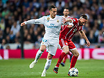 Franck Ribery (R) of FC Bayern Munich fights for the ball with Lucas Vazquez of Real Madrid during the UEFA Champions League Semi-final 2nd leg match between Real Madrid and Bayern Munich at the Estadio Santiago Bernabeu on May 01 2018 in Madrid, Spain. Photo by Diego Souto / Power Sport Images