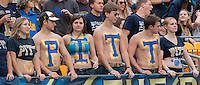 Pitt student section of fans. The Georgia Tech Yellow Jackets defeated the Pitt Panthers 56-28 at Heinz Field, Pittsburgh Pennsylvania on October 25, 2014.