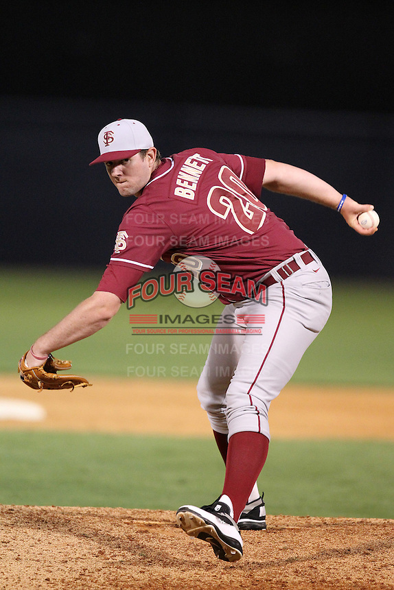 "Florida State Seminoles Daniel Bennett #20 during a game vs. the Florida Gators in the ""Florida Four"" at George M. Steinbrenner Field in Tampa, Florida;  March 1, 2011.  Florida State defeated Florida 5-3.  Photo By Mike Janes/Four Seam Images"