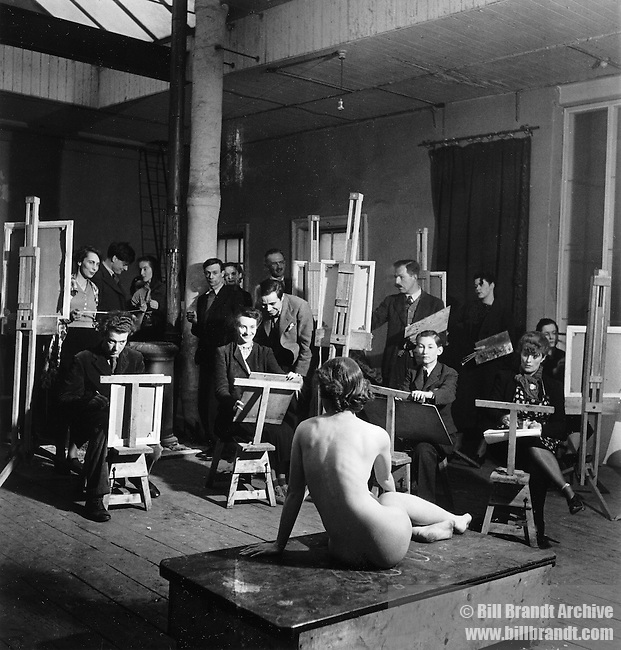 Artist class, Euston Road School of Art, 1940s