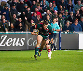 4th November 2017, Welford Road, Leicester, England; Anglo-Welsh Cup, Leicester Tigers versus Gloucester;  Jonah Holmes scores Leicester Tigers second try after 50 minutes