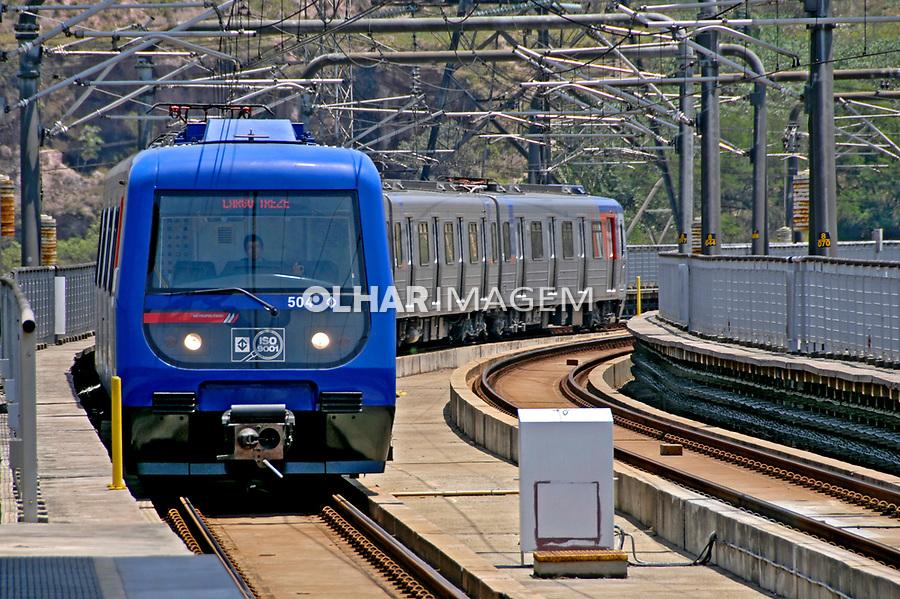 Transporte em trem do metrô. São Paulo. 2007. Foto de Juca Martins.