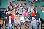 30TH: Last Friday night, Kenneth Coffey, Marian Pk, Tralee (seated centre) had a massive bash for his 30th birthday in Dowdies bar, Boherbue, Tralee with many friends and family.