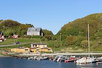 Hafen von Hammerhavn auf der Insel Bornholm, D&auml;nemark, Europa<br /> Port of Hammershavn, Isle of Bornholm, Denmark