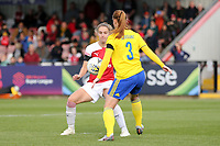 Vivianne Miedema of Arsenal Women  and Meaghan Sargeant of Birmingham City Women during Arsenal Women vs Birmingham City Ladies, FA Women's Super League Football at Meadow Park on 4th November 2018