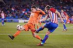 Atletico de Madrid's Filipe Luis and SD Eibar's Ander Capa during Copa del Rey match between Atletico de Madrid and SD Eibar at Vicente Calderon Stadium in Madrid, Spain. January 19, 2017. (ALTERPHOTOS/BorjaB.Hojas)