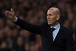 Manager Zinedine Zidane of Real Madrid gestures during the La Liga 2017-18 match between Atletico de Madrid and Real Madrid at Wanda Metropolitano  on November 18 2017 in Madrid, Spain. Photo by Diego Gonzalez / Power Sport Images