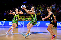 Pulse&rsquo; Whitney Souness in action during the ANZ Premiership - Pulse v Magic at TSB Bank Arena, Wellington, New Zealand on Sunday 21 April 2019. <br /> Photo by Masanori Udagawa. <br /> www.photowellington.photoshelter.com