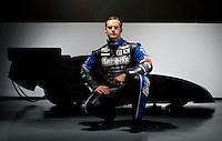 Jan. 8, 2012; Brownsburg, IN, USA; The car of NHRA funny car driver Matt Hagan poses for a portrait during a photo shoot at the Don Schumacher Racing shop. Mandatory Credit: Mark J. Rebilas-