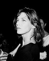 JANE BIRKIN . ACTRICE . CHANTEUSE . DEAUVILLE . 12 SEPTEMBRE 1985 .
