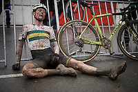 Garry Millburn (AUS) post-race <br />