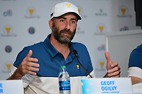 Geoff Ogilvy (AUS) speaks during round 1 player selection of the 2017 President's Cup, Liberty National Golf Club, Jersey City, New Jersey, USA. 9/27/2017.<br /> Picture: Golffile | Ken Murray<br /> <br /> <br /> All photo usage must carry mandatory copyright credit (© Golffile | Ken Murray)