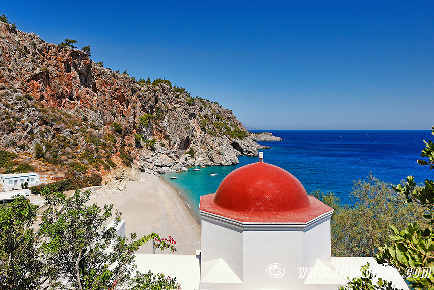 Kyra Panagia is probably the most publicized beach of Karpathos, Greece