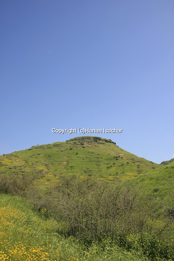 Golan Heights. the road to Mount Susita