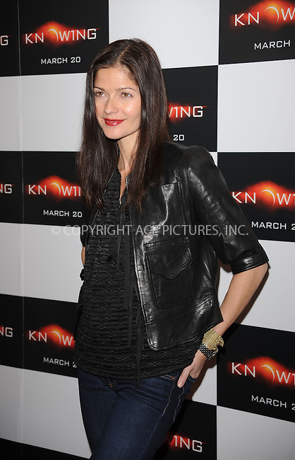 WWW.ACEPIXS.COM . . . . . ....March 9 2009, New York City....Actress Jill Hennessy arriving at the premiere of 'Knowing' at the AMC Loews Lincoln Square on March 9, 2009 in New York City.....Please byline: KRISTIN CALLAHAN - ACEPIXS.COM.. . . . . . ..Ace Pictures, Inc:  ..tel: (212) 243 8787 or (646) 769 0430..e-mail: info@acepixs.com..web: http://www.acepixs.com