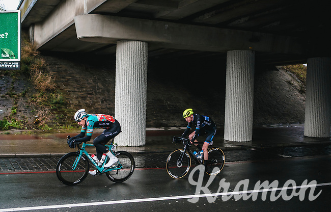 escape duo Jens Van Den Dool (NED/Metec TKH Continental Team) and Justin Wolf (GER/Bike Aid) <br /> <br /> GP Monseré 2020<br /> One Day Race: Hooglede – Roeselare 196.8km. (UCI 1.1)<br /> Bingoal Cycling Cup 2020