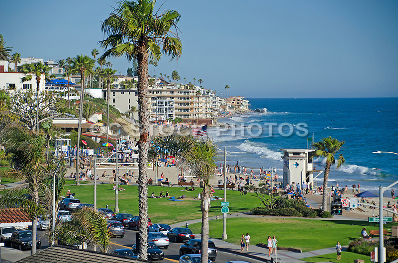 Laguna Beach Ocean View from Pacific Coast Highway and Broadway