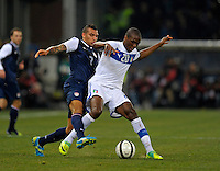 Danny Williams (l, USA), vs. Angelo Obinze Ogbonna  (r, ITA), during the friendly match Italy against USA at the Stadium Luigi Ferraris at Genoa Italy on february the 29th, 2012.