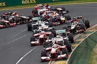 MELBOURNE, AUSTRALIA, 17 MARÇO 2013 - F1 - GP DA AUSTRALIA - Pilotos durante o GP da Austrália, em Albert Park, Melbourne, neste domingo (17). (FOTO: PIXATHLON / BRAZIL PHOTO PRESS).