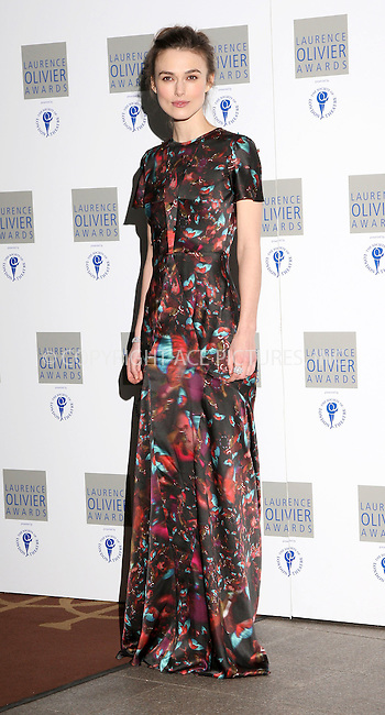 WWW.ACEPIXS.COM . . . . .  ..... . . . . US SALES ONLY . . . . .....March 21 2010, London....Actress Keira Knightley arriving at The Laurence Olivier Awards at The Grosvenor House Hotel on March 21, 2010 in London, England. ....Please byline: FAMOUS-ACE PICTURES... . . . .  ....Ace Pictures, Inc:  ..tel: (212) 243 8787 or (646) 769 0430..e-mail: info@acepixs.com..web: http://www.acepixs.com
