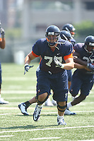 Virginia offensive lineman Aaron Van Kuiken during open spring practice for the Virginia Cavaliers football team August 7, 2009 at the University of Virginia in Charlottesville, VA. Photo/Andrew Shurtleff