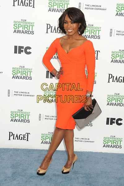 1 March 2014 - Santa Monica, California - Angela Bassett. 2014 Film Independent Spirit Awards - Arrivals held at Santa Monica Beach. <br /> CAP/ADM/BP<br /> &copy;Byron Purvis/AdMedia/Capital Pictures