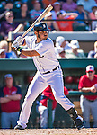 14 March 2014: Detroit Tigers infielder Eugenio Suarez at bat during a Spring Training Game against the Washington Nationals at Joker Marchant Stadium in Lakeland, Florida. The Tigers defeated the Nationals 12-6 in Grapefruit League play. Mandatory Credit: Ed Wolfstein Photo *** RAW (NEF) Image File Available ***