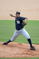New York Yankees pitcher Daris Vargas (40) during an Instructional League game against the Philadelphia Phillies on September 23, 2014 at the Bright House Field in Clearwater, Florida.  (Mike Janes/Four Seam Images)