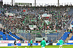 11.05.2019, PreZero Dual Arena, Sinsheim, GER, 1. FBL, TSG 1899 Hoffenheim vs. SV Werder Bremen, <br /> <br /> DFL REGULATIONS PROHIBIT ANY USE OF PHOTOGRAPHS AS IMAGE SEQUENCES AND/OR QUASI-VIDEO.<br /> <br /> im Bild: Bremer Fanblock<br /> <br /> Foto &copy; nordphoto / Fabisch