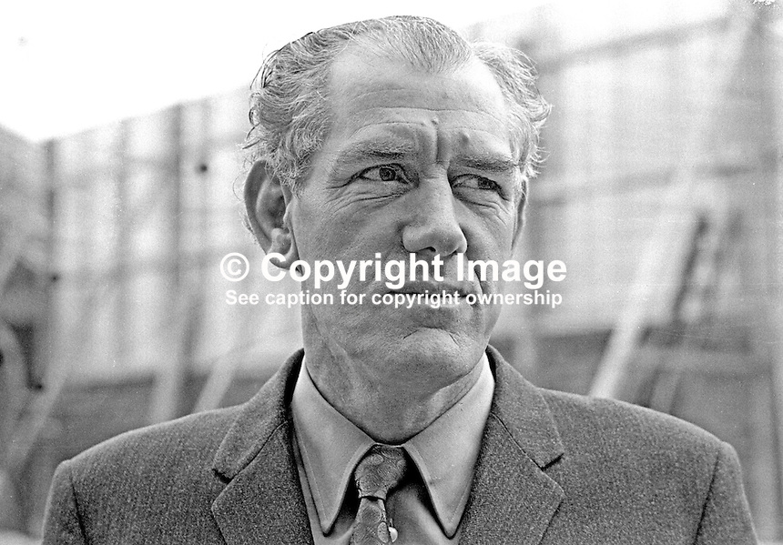 Superintendent George Moore, RUC, Mountpottinger Station, Belfast, N Ireland, 197203100113<br />