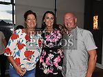 Ann Nelis pictured at her leaving party from Aura Leisure Centre with friends Linda Kearney and Derek Neill in Brú. Photo:Colin Bell/pressphotos.ie