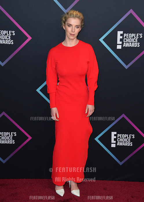 LOS ANGELES, CA. November 11, 2018: Betty Gilpin  at the E! People's Choice Awards 2018 at Barker Hangar, Santa Monica Airport.<br /> Picture: Paul Smith/Featureflash