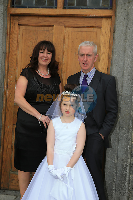 Eva Maguire Jill and Pat at first communion in Slane..Picture:  www.newsfile.ie ..