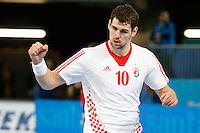 19.01.2013 World Championshio Handball. Match between Spain vs Croatia (25-27) at the stadium La Caja Magica. The picture show Jakov Gojun (Back of Croatia)