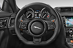 Car pictures of steering wheel view of a 2015 Jaguar F-Type S 3 Door Coupe 2WD Steering Wheel