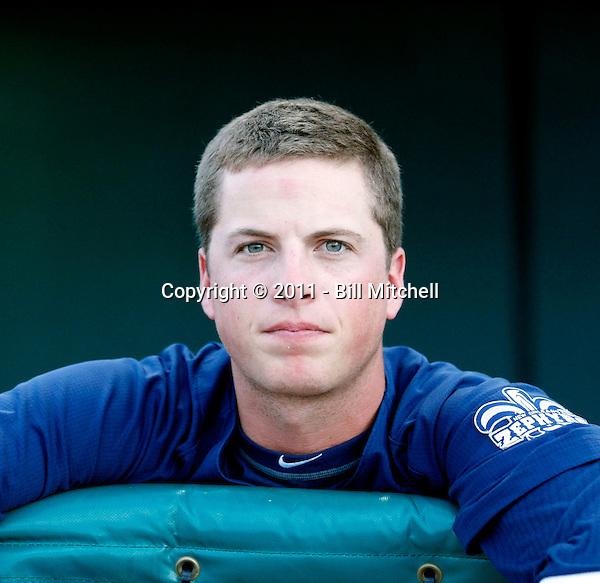 Matt Dominguez - New Orleans Zephyrs - 2011 Pacific Coast League.Photo by Bill Mitchell