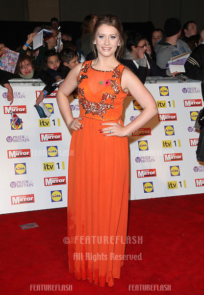 Ella Henderson arriving for the 2012 Pride of Britain Awards, at the Grosvenor House Hotel, London. 29/10/2012 Picture by: Alexandra Glen / Featureflash
