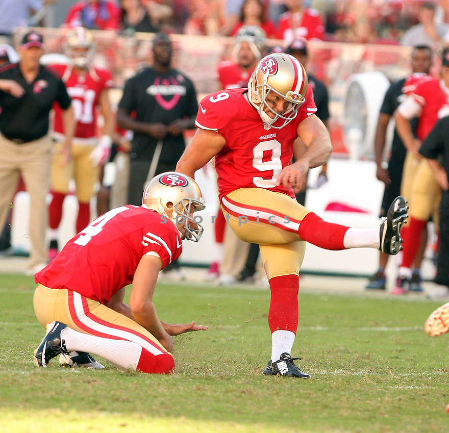 San Francisco 49ers Phil Dawson (9) during a game against the Kansas City Chiefs on October 5, 2014 at Levi's Stadium in Santa Clara, CA. the 49ers beat the Chiefs 22-17.