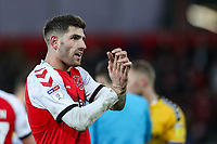 Fleetwood Town's Ched Evans applauds the supporters at the end of the match  <br /> <br /> Photographer Andrew Kearns/CameraSport<br /> <br /> The EFL Sky Bet League One - Fleetwood Town v Charlton Athletic - Saturday 2nd February 2019 - Highbury Stadium - Fleetwood<br /> <br /> World Copyright © 2019 CameraSport. All rights reserved. 43 Linden Ave. Countesthorpe. Leicester. England. LE8 5PG - Tel: +44 (0) 116 277 4147 - admin@camerasport.com - www.camerasport.com