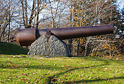 Cannon on the grounds of the Old York Gaol during the autumn months....located in York, Maine USA which is part of scenic New England