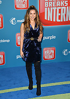 LOS ANGELES, CA. November 05, 2018: Allison Holker at the world premiere of &quot;Ralph Breaks The Internet&quot; at the El Capitan Theatre.<br /> Picture: Paul Smith/Featureflash