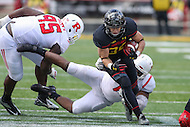 College Park, MD - November 26, 2016: Maryland Terrapins running back Jake Funk (34) runs the ball during game between Rutgers and Maryland at  Capital One Field at Maryland Stadium in College Park, MD.  (Photo by Elliott Brown/Media Images International)