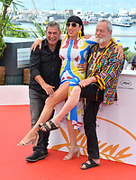 """Sergi Lopez, Rossy De Palma & Terry Gilliam at the photocall for """"The Man Who Killed Don Quixote"""" at the 71st Festival de Cannes, Cannes, France 19 May 2018<br /> Picture: Paul Smith/Featureflash/SilverHub 0208 004 5359 sales@silverhubmedia.com"""