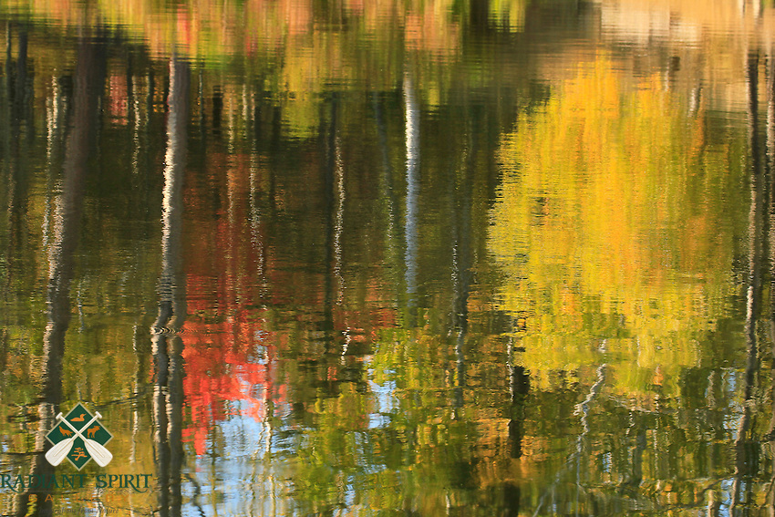 &quot;Impressions of Autumn&quot;<br /> <br /> Reflections of Fall foliage at Bear Head Lake State Park. The perfect combination of lighting and soft breeze helped create this impressionistic style Fall reflection photograph. Nature provides us with abundant, beautiful artwork.